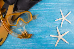 Snorkel kit and starfish Stock Image