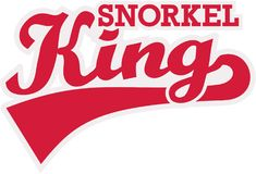 Snorkel Konings retro woord Stock Afbeelding