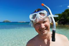 Snorkel man Royalty Free Stock Images