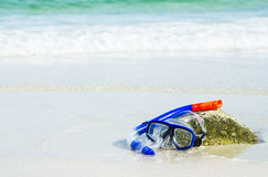 Snorkel and mask Royalty Free Stock Images