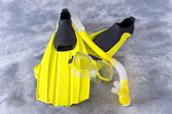 Snorkel Mask and Fins  Royalty Free Stock Image
