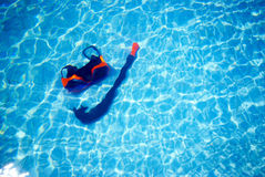 Snorkel mask in the pool Stock Image