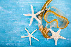 Snorkel mask and starfish Stock Image
