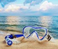 Snorkel- och dykapparatmaskering Arkivbilder