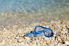 Snorkel och maskera Fotografering för Bildbyråer