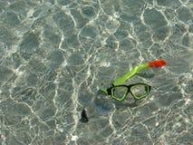 Snorkel onderwater Stock Afbeelding