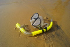 Snorkel on the sand Royalty Free Stock Image