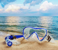 Snorkel and scuba mask Stock Images
