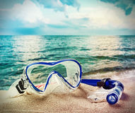 Snorkel and scuba mask Royalty Free Stock Photo