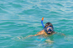 Snorkel at sea Royalty Free Stock Image