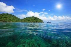 Snorkel spot at Koh surin Stock Photos
