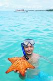 Snorkel with starfish Royalty Free Stock Photo
