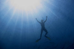 Snorkel with sun rays Royalty Free Stock Photos