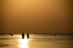 Snorkel at sunrise Royalty Free Stock Photography