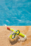 Snorkel with swimming pool Royalty Free Stock Photography