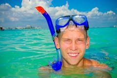 Snorkel teen Stock Photos