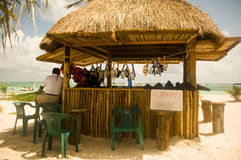 Snorkel Tours. Snorkel tour booth on the beach in Costa Maya Mexico Stock Photo