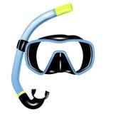 Snorkel und Schablone für Tauchen vektor abbildung