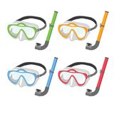 Snorkel vector collection design stock illustration