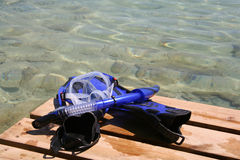 Snorkel-Zeit Stockfoto