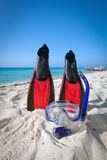 Snorkelende apparatuur Stock Afbeeldingen