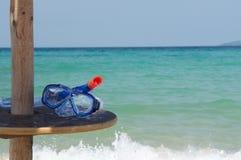 Snorkelende toestel en overzees Royalty-vrije Stock Foto