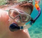 snorkeler 免版税库存照片