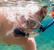snorkeler 免版税图库摄影