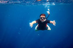 Snorkeler Stock Images