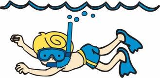 Snorkeler Underwater Royalty Free Stock Images