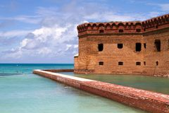 Snorkelers Fort Jefferson Royalty Free Stock Photo