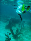 Snorkeling в лагуне Cays Castaway Дисней Стоковое фото RF