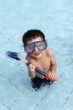 Snorkeling на бассеине стоковое фото rf