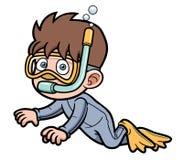 Snorkeling ребенк бесплатная иллюстрация