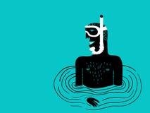 Snorkeling человек бесплатная иллюстрация