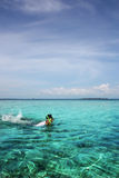 Snorkeling Royalty Free Stock Photo