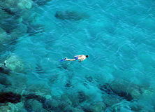 Snorkeling. Me snorkeling in Sardinia sea Stock Photos