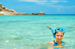 snorkeling Royaltyfri Bild