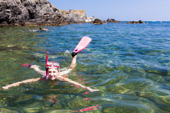 snorkeling Imágenes de archivo libres de regalías