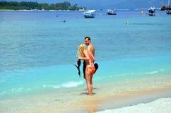 snorkeling lizenzfreie stockfotos