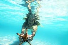 snorkeling royalty-vrije stock fotografie