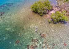 Snorkeling Aerial Royalty Free Stock Photo