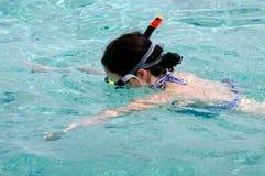 Snorkeling in Aitutaki Lagoon Cook Islands Stock Photography