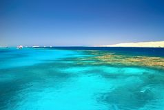 Free Snorkeling Area Near Giftun Island In The Red Sea. Royalty Free Stock Photo - 124427475