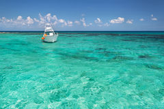 Snorkeling boat on the Caribbean Sea Stock Image