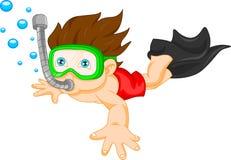 Snorkeling boy Stock Image