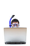 Snorkeling businessman Stock Image