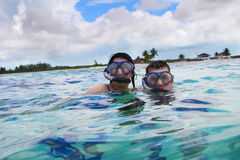 Snorkeling in the Caribbean Ocean Royalty Free Stock Photography