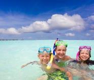 Snorkeling  Children Stock Photos
