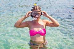 Snorkeling in Croatia stock image